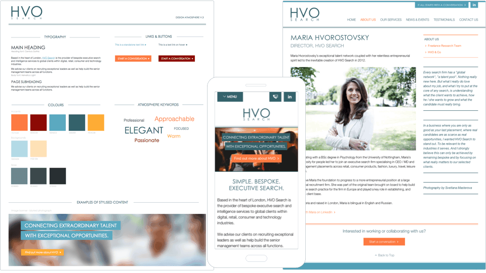 Image of screenshots of HVO Search website